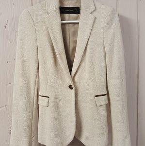 Zara Basic Collection Off White Blazer